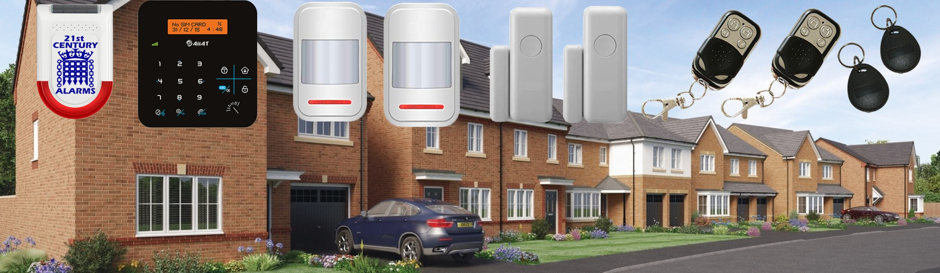 LuxHome LED Wireless Alarm System